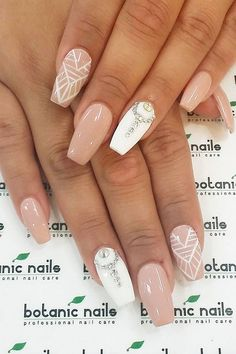 >>Find out about french nails. Click the link to read more~~ The web presence is worth checking out. Wedding Nails For Bride, Wedding Nails Design, Bride Nails, Nail Wedding, Bling Wedding, Nail Art Hacks, Pretty Nail Designs, Nail Art Designs, French Nails