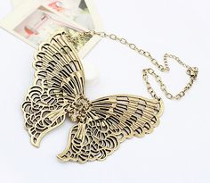 Butterfly Vintage Statement Necklace from LilyFair Jewelry.