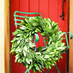 Bay and rosemary wreath