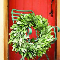 Bay and rosemary wreath