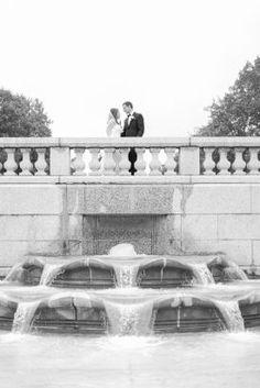Fountain Wedding Photos, Park Wedding Photos, Bride and Groom | City Tavern Club, DC Wedding | Megan Chase Photography