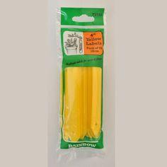Køb Gule plantepinde - 10 cm - 45 stk. - Mærkning til haven - på Tina's Verden