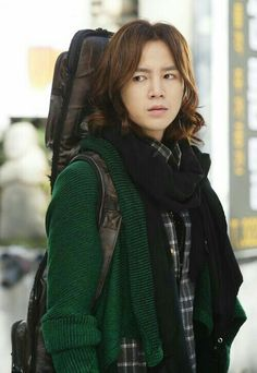 Is it wrong that I loved and wished I owned every single one of kang mu Gyul's sweaters. He had some stylish outerwear for a starving musician Korean Star, Korean Men, Korean Actors, Korean Dramas, Love Rain Drama, Sehun, Marry Me Mary, Long Messy Hair, Jang Geun Suk
