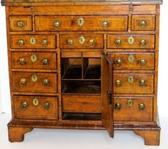 George I Walnut Bachelors Chest. Circa 1720 | From a unique collection of antique and modern commodes and chests of drawers at http://www.1stdibs.com/furniture/storage-case-pieces/commodes-chests-of-drawers/: