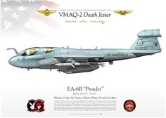 "UNITED STATES MARINE CORPS Marine Tactical Electronic Warfare Squadron Two (VMAQ-2) ""Death Jester"" MCAS Cherry Point, North Carolina."