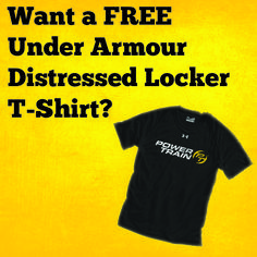 Refer a family member or friend in the month of June and receive a FREE Power Train Under Armour Distressed Locker T-Shirt when they sign up for a Sports Membership. *See location for details. #PTGear