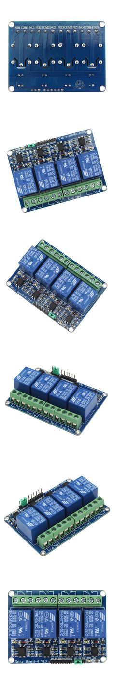 12V 4-Channel Relay Module Shield for Arduino ARM PIC AVR DSP Electronic 12V 4 Way Relay