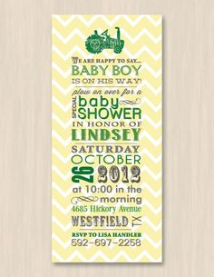 TRACTOR Baby Shower Printable Invitation