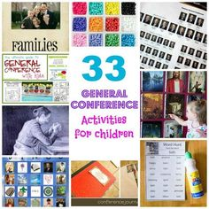 33 activities that will help your kids get the most out of general conference
