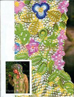 August 2014 Zhurnal MOD 580 Russian crochet patterns