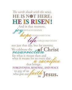 "Easter typographic illustration.  Free printable for 8"" x 10"" frame."