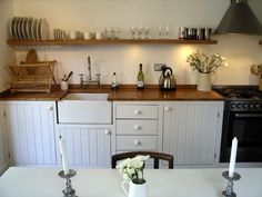 Image result for rustic modern small galley kitchen