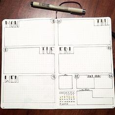 Planner Bullet Journal, Bullet Journal Spread, Bullet Journal Inspo, Bullet Journal Weekly Layout, Bullet Journal Sections, Bullet Journal Examples, Bujo Planner, To Do Planner, Planner Ideas