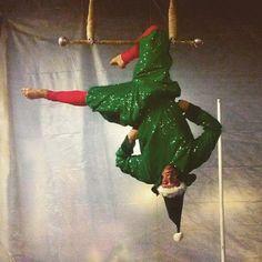 Just elfin around!  #elf #aerial #trapeze #circus #cincinnati #performer #cincinnaticircus #ohio #talent #entertainment #christmas #holiday #elves