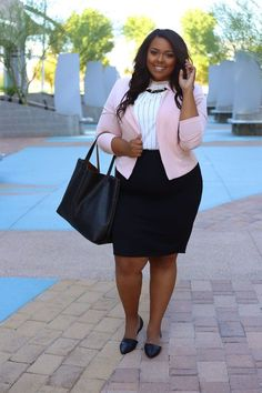 Corporate Chic for Plus-Sized Women: 35 Style-Plus Office Outfits - business professional outfits offices Business Professional Outfits, Professional Dresses, Business Casual Outfits, Young Professional, Plus Size Business Attire, Plus Size Professional, Summer Professional, Business Clothes, Business Formal