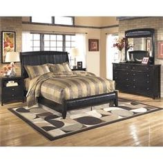 Signature Design by Ashley Bedroom Dresser, Mirror, Queen Sleigh Bed - DFurniture Galleries - Washington D. Full Size Bedroom Sets, Master Bedroom Set, Master Bedroom Interior, Modern Bedroom, Queen Bedroom, Design Bedroom, Stylish Bedroom, Cozy Bedroom, Quilts