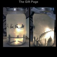 Night light mood lighting Santa over London in a by TheGiftPage