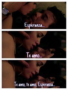 """Te amo"" <3 <3 <3 #EsperanzaMía #Tomanza"
