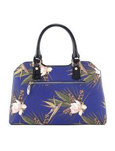 Blue Paradise Medium Leather Handbag Showing Back Zip Bags Handbags Wallets