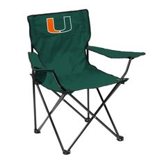Miami Hurricanes Quad Chair - Logo Chair