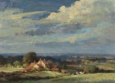 ENGLISH COUNTRYSIDE PAINTING | Edward Seago, English Countryside, A Suffolk Landscape