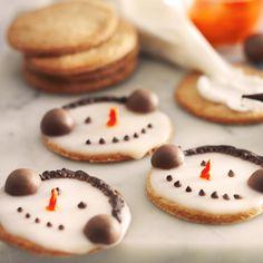 Snemandskager, jul, dansukker, juleri med børnene, kage, inspiration, opskrift, christmas