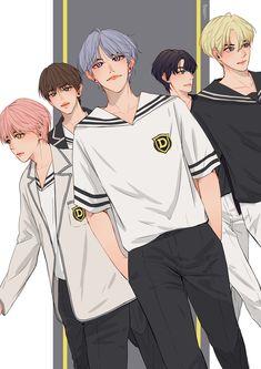 Nct 127, Emoji Stickers Iphone, Nct Life, Mark Nct, Jeno Nct, Jisung Nct, Handsome Anime Guys, First Art, Kpop Fanart