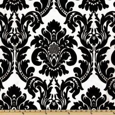 Dior Flocked Damask Onyx White