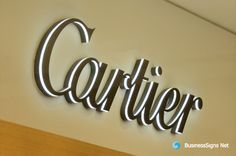 3D LED Side-lit Signs With Fabricated Painted Stainless Steel Front Panel For Cartier. If you need to custom signs like this, please click the image then fill out the form and tell us your needs now.