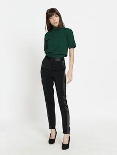 "Shop ""Cordial High Waist Pants - Black"" at pomelofashion.com"