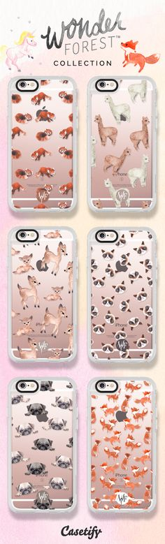 6 most popular animal iPhone 6s protective phone case designs by @wonderforest…