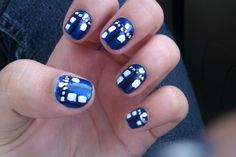 Tardis Nails!!! Doctor Who