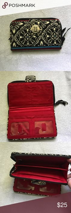 Vera Bradley Barcelona Lock Wallet NWOT! Perfect condition, twist to lock wallet by Vera Bradley Vera Bradley Bags Wallets
