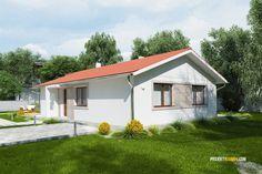 Nízkorozpočtový projekt domu bungalov na úzke pozemky House Construction Plan, Planer, House Plans, Floor Plans, Exterior, Outdoor Structures, How To Plan, Modern Houses, Log Projects