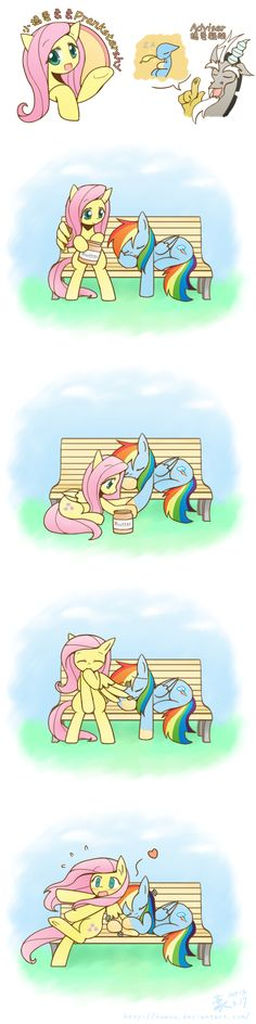 PranksterShy and Rainbow Dash. My Little Pony Comic, My Little Pony Drawing, My Little Pony Pictures, Fluttershy, Discord, Rainbow Dash, My Little Pony Collection, Avengers Cartoon, Imagenes My Little Pony