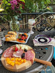 Dinner at Eight: At the Bistro Table The Bistro, Types Of Fruit, Small Tray, Meat And Cheese, Just Because Gifts, Charcuterie Board, Light Recipes, Grocery Store, Finger Foods