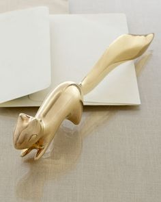 Brass Squirrel Letter Opener by Jonathan Adler at Neiman Marcus.