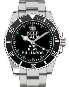 Keep Calm and play Billiards  Watch -Men Watch Jewelry Billiards Gift Present for Men- Watch 1573 von UHR63 auf Etsy