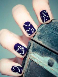 Blue Nail Designs for Short Nails