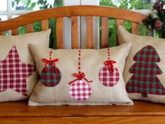 New sewing christmas pillows gifts ideas Christmas Sewing Projects, Christmas Crafts, Christmas Decorations, Christmas Ornaments, Holiday Decor, Diy Projects, Noel Christmas, Homemade Christmas, Christmas 2019