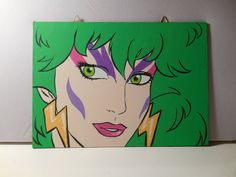Hand made   Jem and the Holograms  dual canvas set  by grimNglam