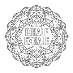 Daily Health Tips: Search results for Inspiration Colouring Pages, Coloring Books, Zentangle, Zantangle Art, Inhale Exhale, Mandala Pattern, Trippy, Doodles, Bullet Journal