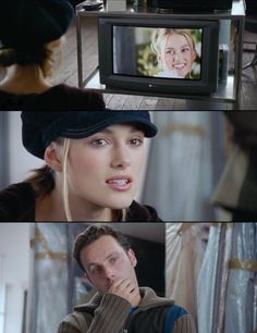 """Keira Knightley in Love Actually as Juliet: """"They're all of me. Series Movies, Movies And Tv Shows, Love Actually 2003, Live Action Movie, Film Books, Romantic Movies, Film Quotes, You Are Perfect, Film Stills"""