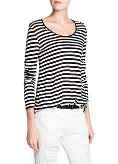 Oversize striped t-shirt