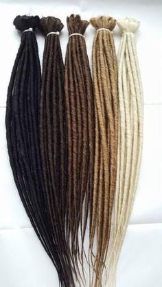 DreadLab Single Ended Dreadlock Extensions. Made with high quality synthetic hair. These lightweight and tight dreadlocks create the perfect dreadlocked look. #Dreadlocks #Dreadlab #Dreadlockextensions