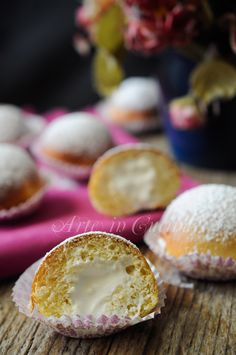 Flakes of snow fluffy brioche Neapolitan Italian Desserts, Mini Desserts, Italian Recipes, Italian Cookies, Sweet Cookies, Cake Cookies, Sweet Treats, Burritos, Good Morning Breakfast