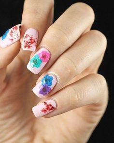 12 Diseños de Uñas decoradas con Flores - Manicure