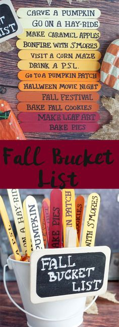 So many great bucket list ideas! This simple Fall Bucket List craft is an easy way to make sure you get all your fall adventures in!