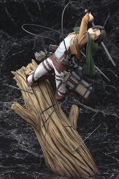 Anime Attack on Titan Levi·Ackerman Battle Scene Action Figure Model Toy KlYhP Otaku Anime, Action Figures Anime, Figurine Anime, Statue Base, Tokyo Otaku Mode, Attack On Titan Levi, Anime Toys, Mode Shop, Anime Merchandise
