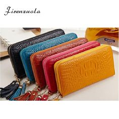 Cheap money bag, Buy Quality ladies clutches directly from China women purse wallet Suppliers: Women Purse Wallets Leather Lady Clutch Fashion Female Long Wallet ID Credit Card Holder Phone Holder Billfold Money Bag Ladies Womens Purses, Long Wallet, Wallets For Women, Purse Wallet, Luggage Bags, Crocodile, Leather Wallet, Women Accessories, Zip Around Wallet